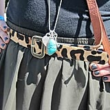 In our opinion, there's never enough leopard print, so we were thrilled to see it on this skinny pony hair belt.