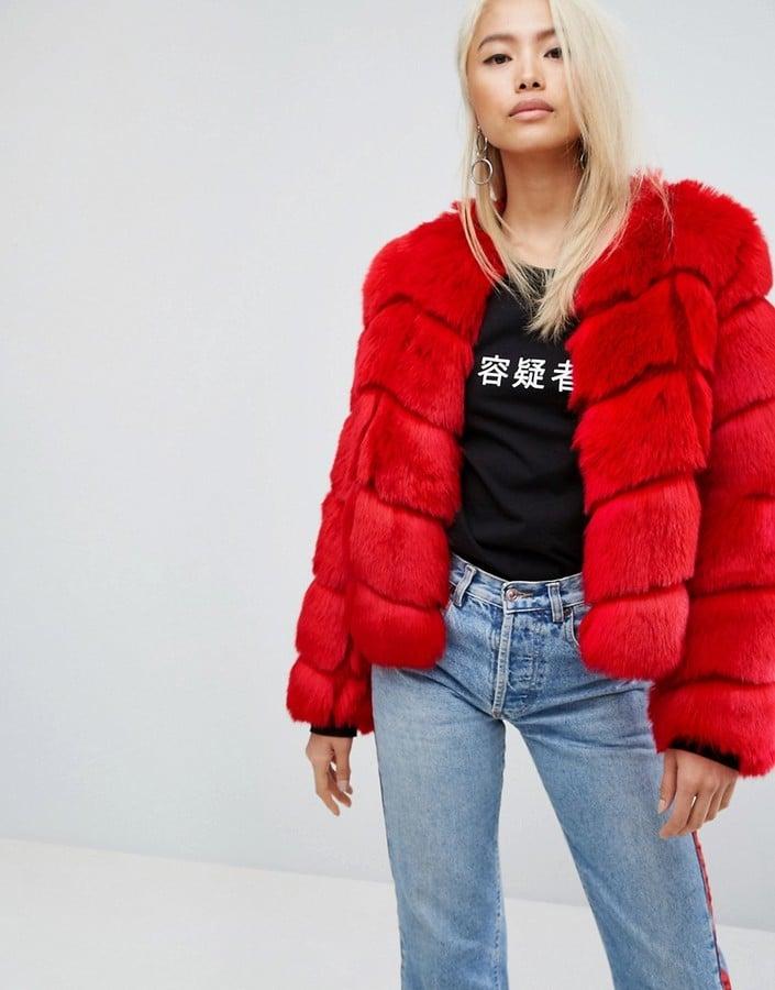 6492de23e Jakke Cropped Faux Fur Paneled Coat | What to Shop | Oct. 16, 2017 ...