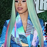 Cardi B's Mint and Pink Wig