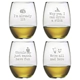 Ghoul's Night Out Mix of 21-oz. Stemless Wine Glasses ($32 for set of 4)