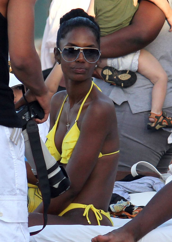 Pictures Of Kim Porter In A Bikini In St Barts With Diddy
