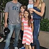 The family looked picture perfect during Safe Kids Day in LA in April 2014.