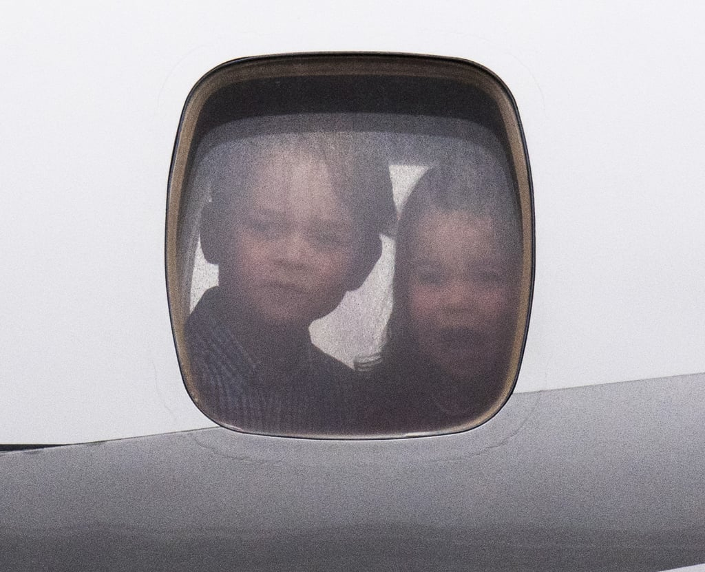 The British royal family officially kicked off their five-day tour of Poland and Germany on Monday. While Kate Middleton and Prince William looked happy to begin their trip, it was Prince George and Princess Charlotte, as per usual, who ended up stealing the show. Even though we didn't have a repeat of George smushing his face up against a plane window like he did in Canada, he came fairly close when he and Charlotte excitedly stared out of their jet just before landing. George and Charlotte will reportedly be staying with their nanny, Maria Turrion Borrallo, at the Belvedere Palace in Warsaw and at the British ambassador's residence in Berlin while Will and Kate conduct their official duties. It's still unclear whether George brought his toy dinosaurs with him, but we're standing by for confirmation.       Related:                                                                                                           9 Ways Prince William Is Keeping His Mother's Memory Alive Within His Own Family
