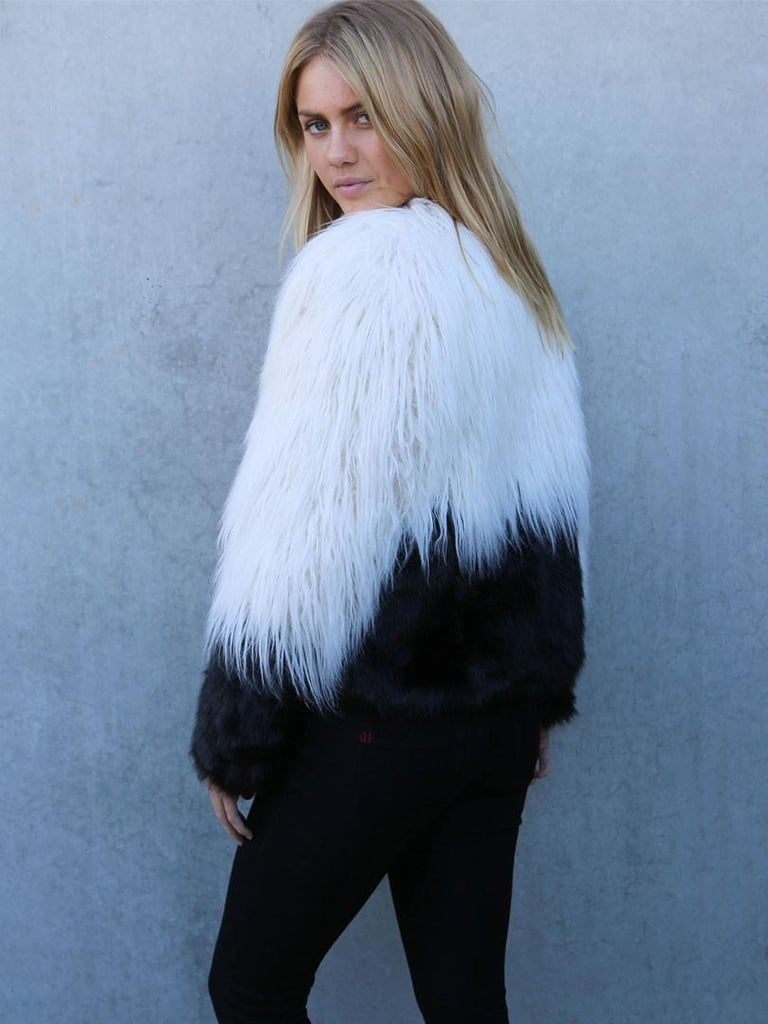 Choies Shaggy Faux Fur Coat