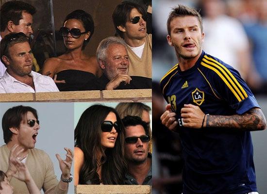 David Beckham Plays For LA Galaxy, Tom Cruise, Gary Barlow And Victoria Watch
