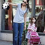 Katie Holmes showed Suri Cruise the sites of Pittsburg.