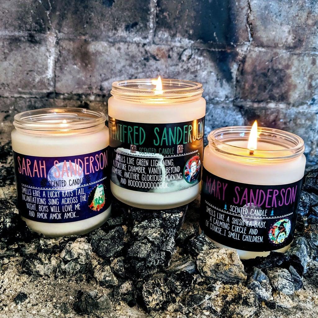 Hocus Pocus Sanderson Sisters Halloween Candles