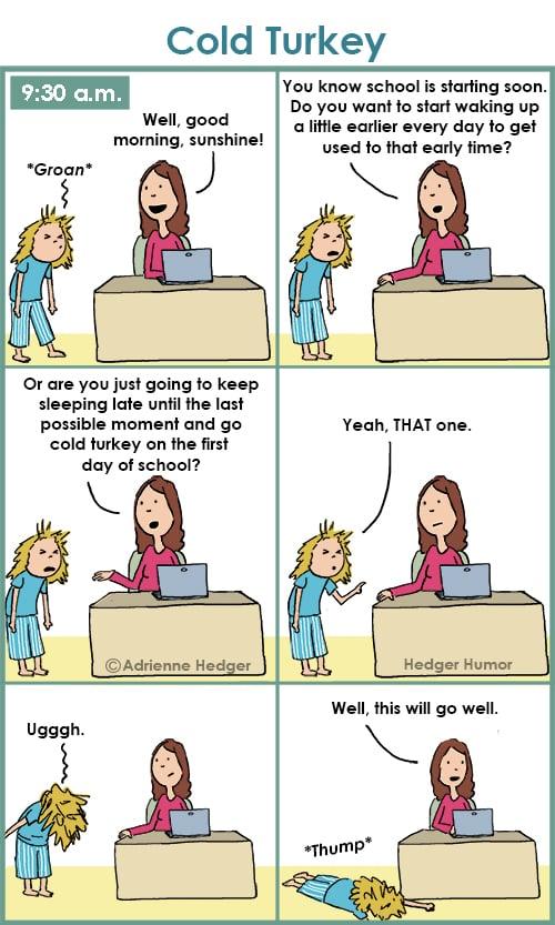 Morning Struggles Parenting Comics