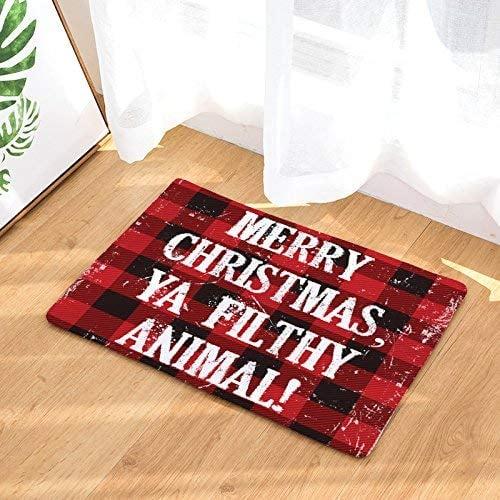 Merry Christmas Ya Filthy Animal Doormat