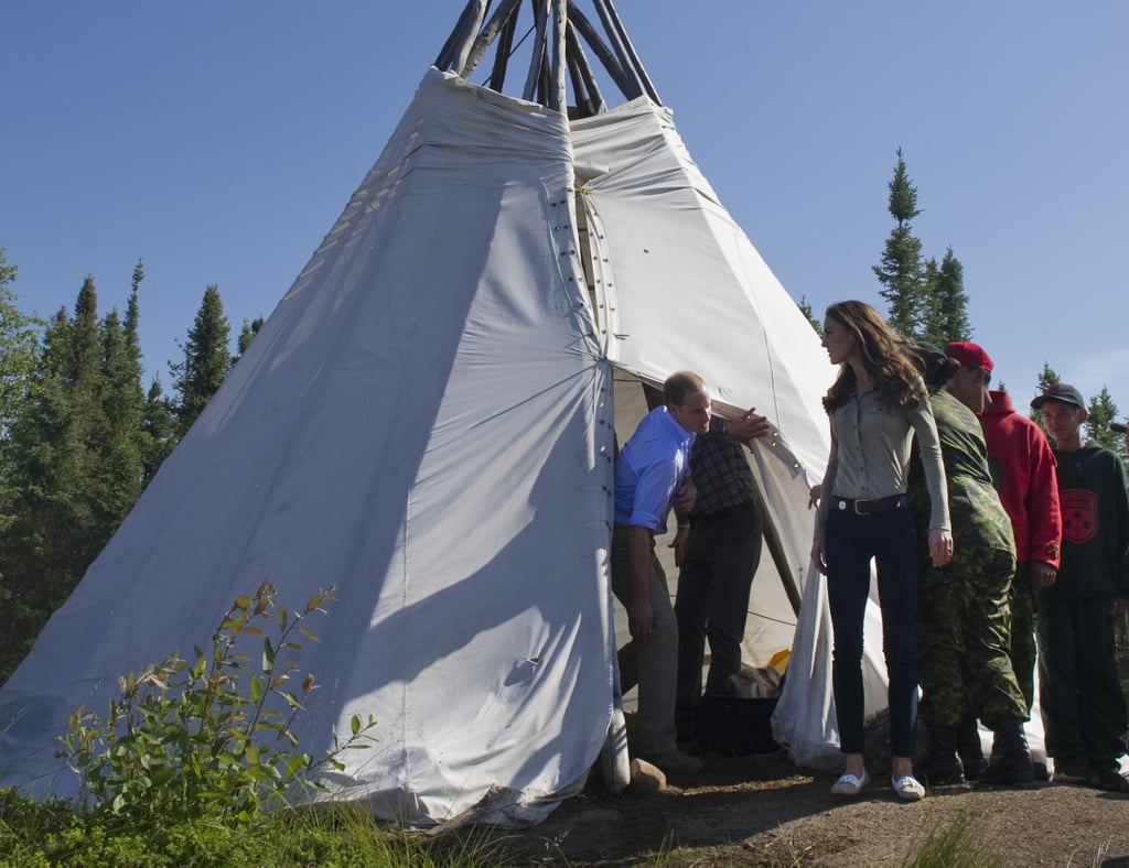 Kate Middleton and Prince William went inside a teepee.