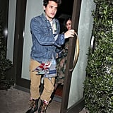 Katy Perry and John Mayer headed home from dinner.