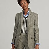 Ralph Lauren x Friends Glen Plaid Wool-Blend Blazer