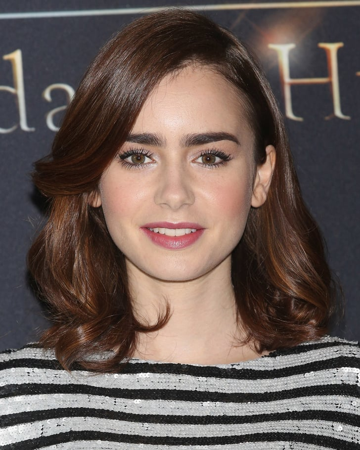 Lily Collins Lancome Collection 2013 Popsugar Beauty