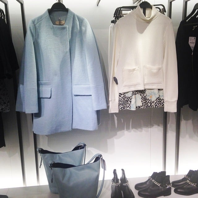 Fashion editor Jasmine checked out the newly revamped Zara store in Sydney, and was momentarily distracted by this baby blue beauty. It's only $159. . . So, we're sold.