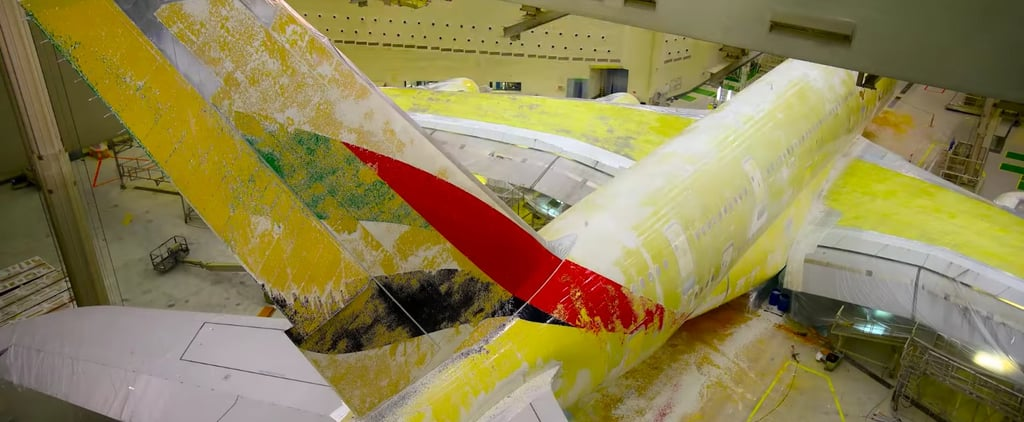The Oddly Fascinating Way Emirates Paints Their Aircrafts