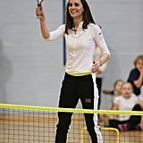 On Feb. 24, Kate headed to Edinburgh for three engagements in a day — a school with her charity Place2Be, the Edinburgh branch of charity organization The Art Room, and a tennis workshop with Judy Murray.