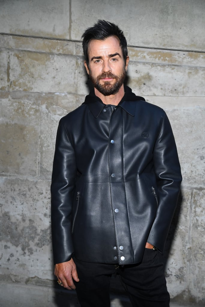 "Justin Theroux officially returned to the spotlight on Tuesday when he stepped out at the Louis Vuitton show during Paris Fashion Week. Dressed in all black, the actor flashed his signature smolder as he posed for photos outside.  The actor's fashion-forward outing comes nearly a month after he and Jennifer Aniston announced their separation, though he was spotted out and about in NYC just last week. Justin and Jennifer have yet to personally speak out about their split, but in their joint separation statement, the couple said their breakup ""was mutual and lovingly made at the end of last year."" According to ET, distance and their different lifestyles could have also played a factor, but they still seem to be on good terms as they reportedly ""talk all the time."" Talk about friendly exes!      Related:                                                                                                           What Went Wrong? Everything We Know So Far About Jennifer Aniston and Justin Theroux's Split"