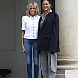 The First Lady Isn't Shy About Wearing Jeans