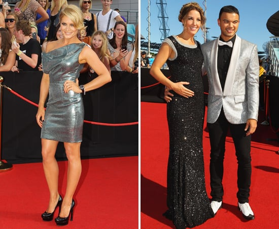 The X Factor's Natalie Bassingthwaighte and Guy Sebastian with Pregnant Jules at 2011 ARIA Awards
