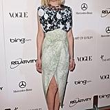 She wore a printed Rodarte slit dress to the Art of Elysium Heaven Gala in 2011.