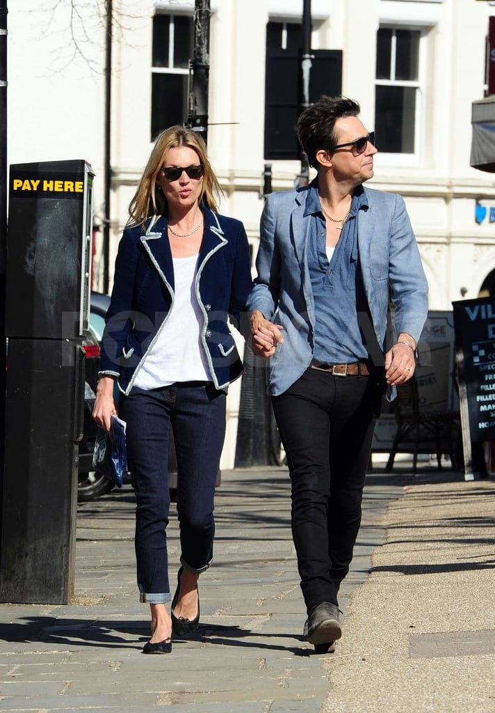 Kate Miss and Jamie Hince take a stroll hand in hand in London.