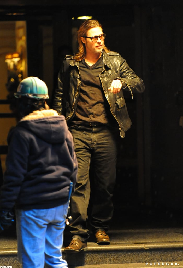 Brad Pitt headed out in NYC.