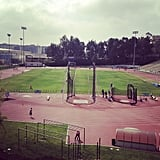 Go For a Run on a Track and Field