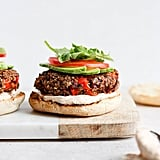 Roasted Garlic Black Bean Quinoa Burgers
