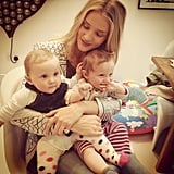 Rosie Huntington-Whiteley shared a snap with two adorable little ones. Source: Instagram user rosiehw