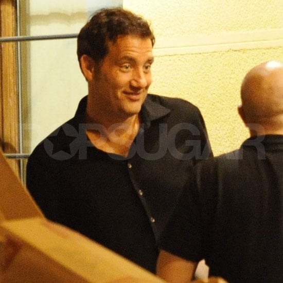 Clive Owen Pictures Having Dinner in Spain