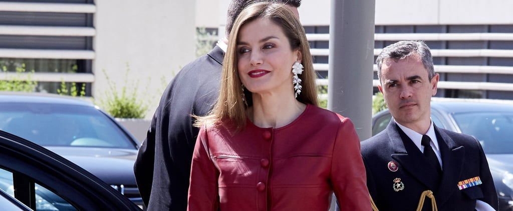 Queen Letizia Is Wearing 1 Leather Piece No Other Royal Could Pull Off
