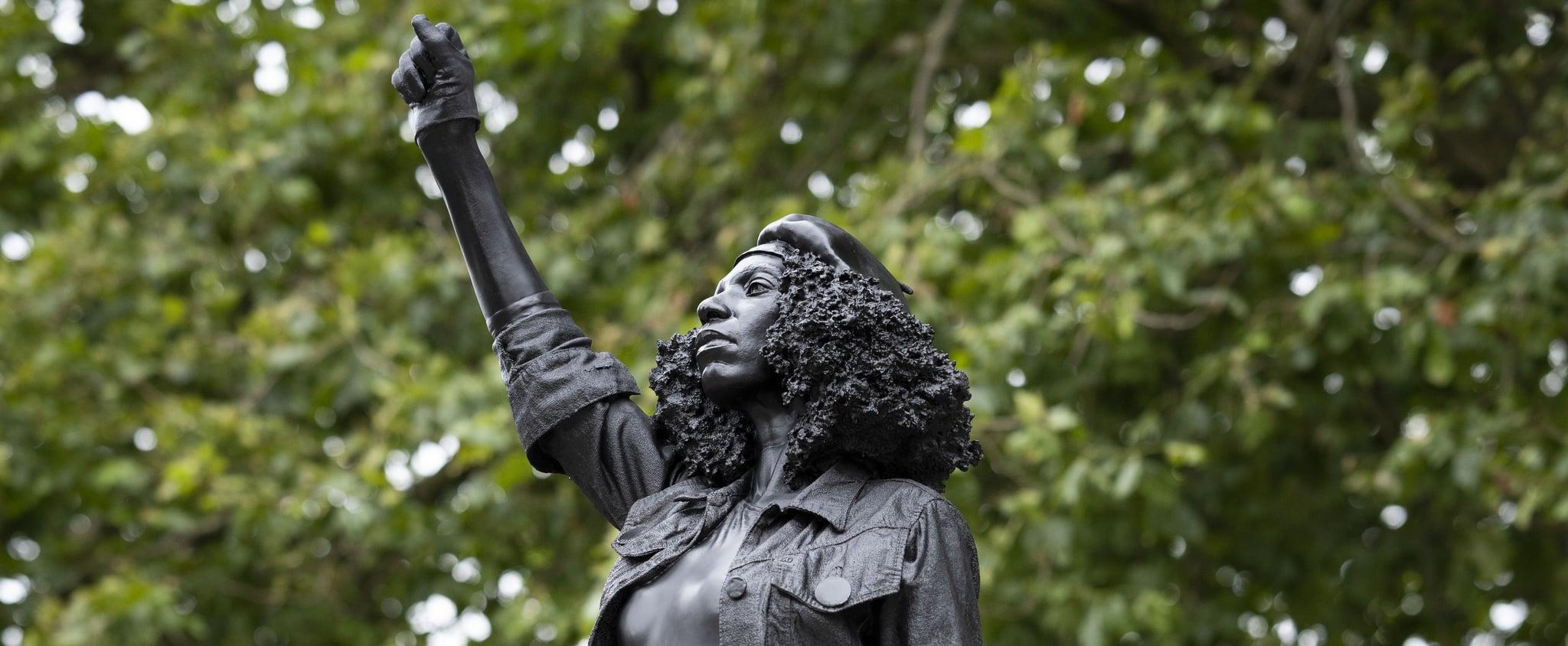BLM Protestor Jen Reid Replaces Edward Colston Statue