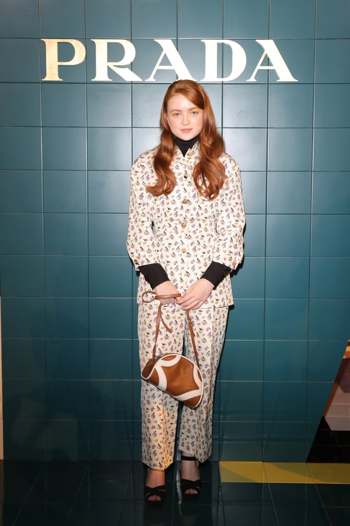 Sadie Sink at the Prada Milan Fashion Week Show