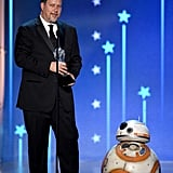 Pictured: John Knoll and BB-8