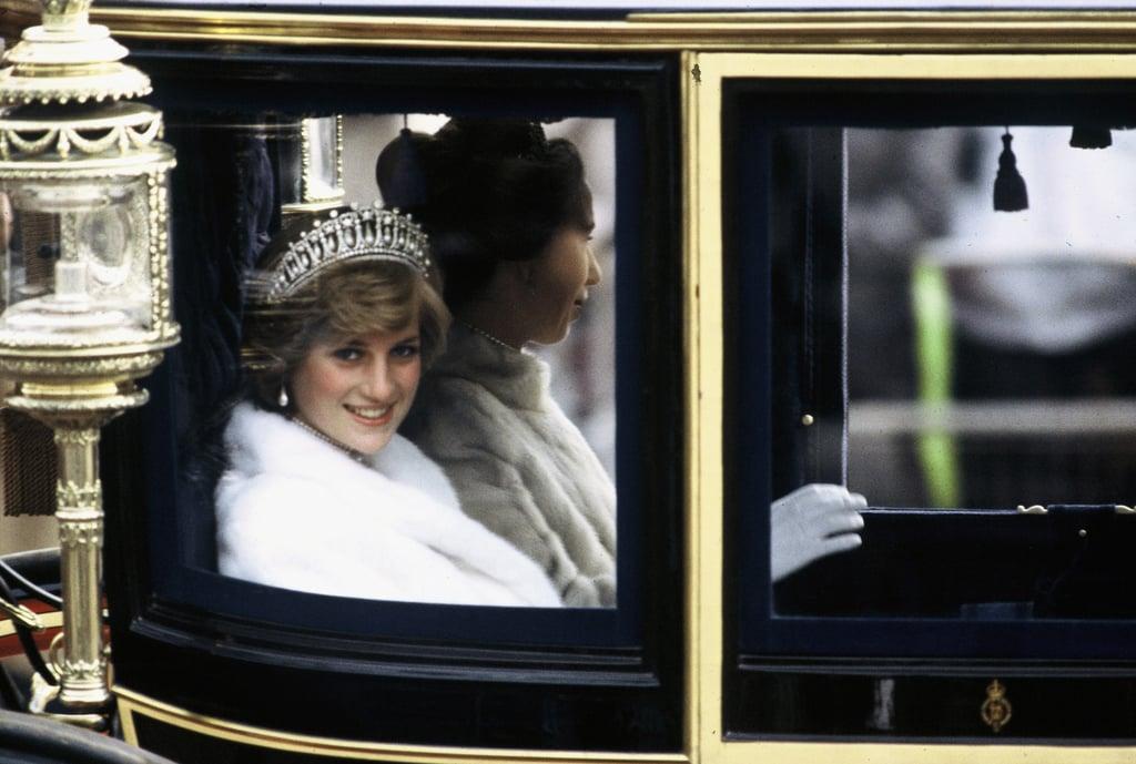 Princess Diana Wearing the Lover's Knot Tiara