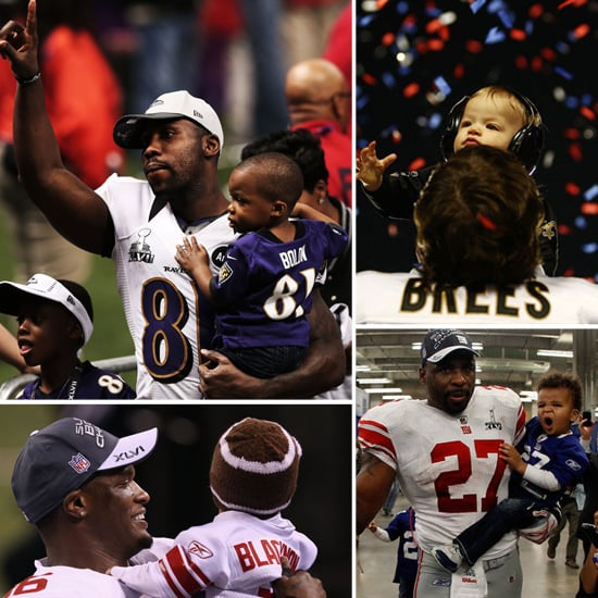 Super Bowl Dads and Their Cute Kids
