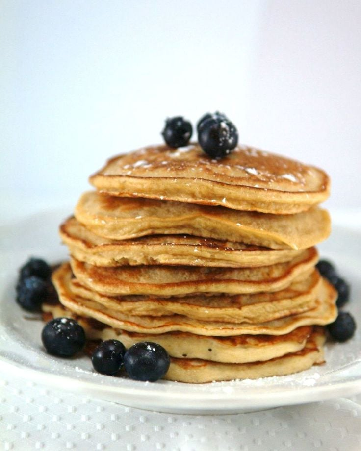 Recipe For Whole Wheat Mixed Berry Pancakes POPSUGAR Fitness