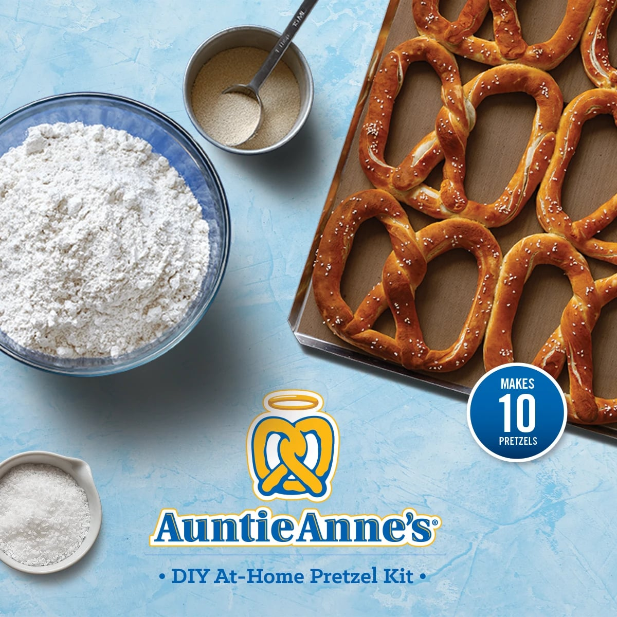 Auntie Anne's Is Selling DIY At-Home Pretzel Kits, and We Can Already Smell the Cinnamon Sugar