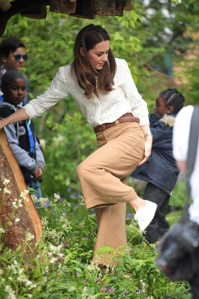 Kate Middleton Channels Her Inner Child as She Climbs a Treehouse at Back to Nature Garden