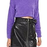Topshop Fluffy Crop Sweater
