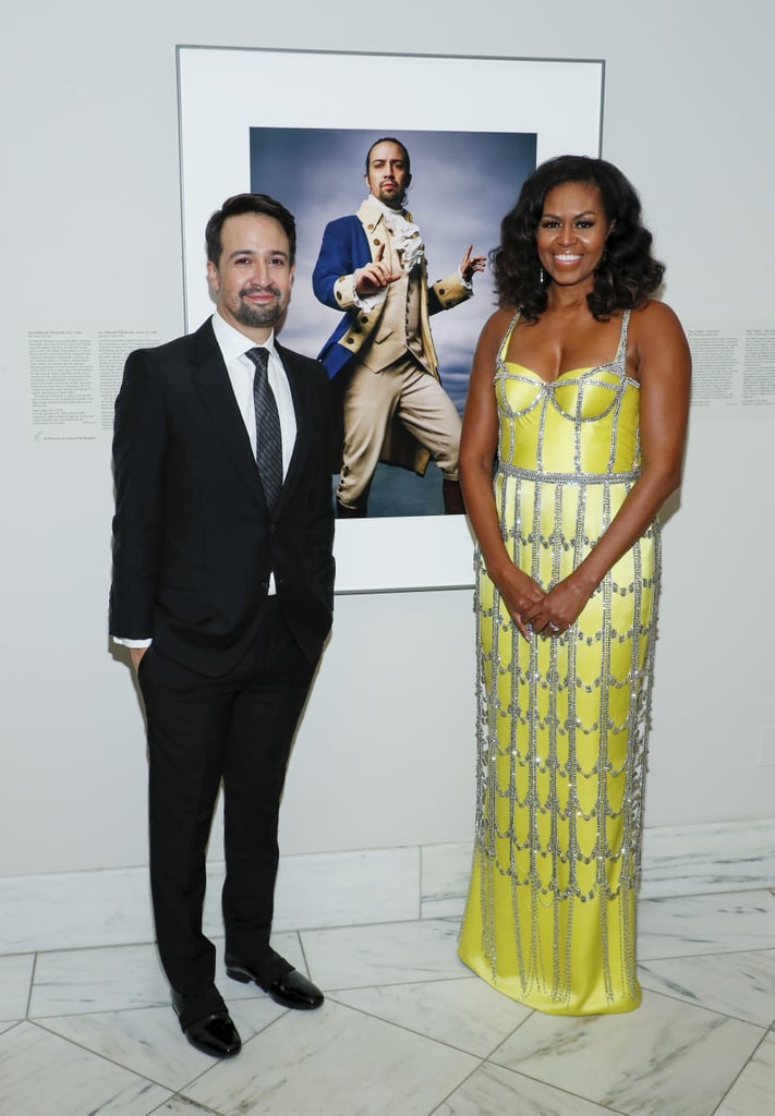 Michelle Obama's Sparkling Yellow Schiaparelli Gown