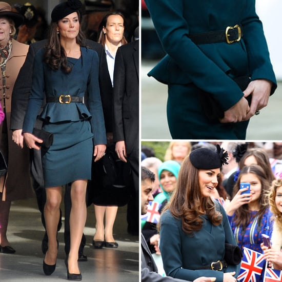 Kate Middleton Wears a Peplum L.K Bennett Suit to Kick Off Queen Elizabeth's Diamond Jubilee Tour