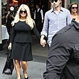 Jessica Simpson at Lunch in NYC With Eric Johnson