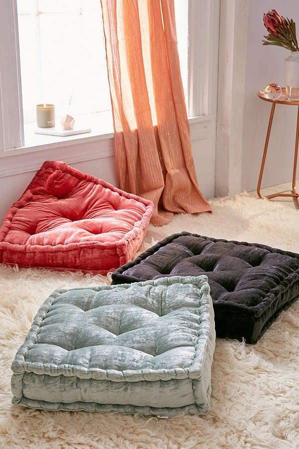 creative floor cushions pillows cushion connectable pillow modular