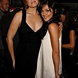 Mandy Moore hugged Minka Kelly when they both attended the award show in 2007.