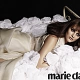 Leighton Meester poses in Marie Claire April 2012.