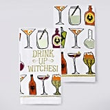 "Celebrate Halloween Together ""Drink Up Witches!"" Kitchen Towel 2-Pack"