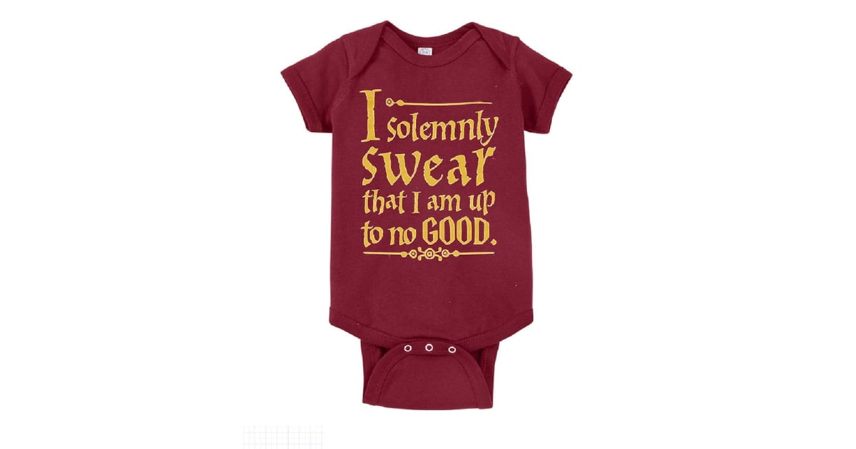 5109005e8 Harry Potter I Solemnly Swear That I Am Up to No Good One-Piece Bodysuit |  Best Harry Potter Onesies | POPSUGAR Family Photo 20