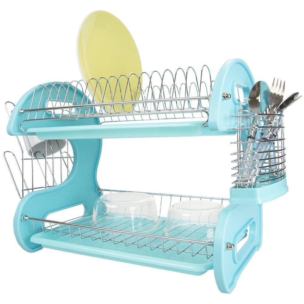 Home Basics Plastic Dish Drainer
