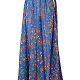 Caroline Constas Hera Printed Cotton and Silk-Blend Voile Maxi Skirt